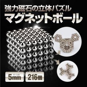 マグネットボール 強力磁石の立体パズル φ5mm 216個+スペア8個 ネオジム磁石 知育玩具 頭の...