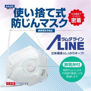 使い捨て防塵マスク 重松マスク 10枚入り 二つ折タイプ 排気弁付 使用限度時間19時間 DD01V-S2-2K|funlife