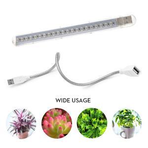 植物育成LEDライト 10W 5V USB給電式 室内植物の成長を促進 赤色+青色 フルスペクトルLED21灯 フレキシブルネック付 照射アングル自在 光合成促進  SULED21の画像