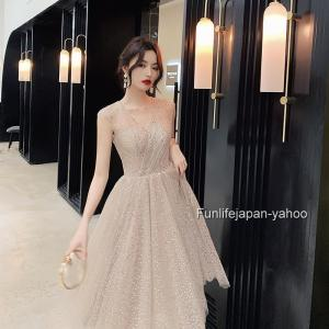 レディース ミディアムドレス  フォーマルウエア 2019 お嬢様 映画祭 発表会 宴会 ドレス
