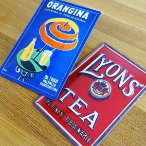 106【送料無料】オランジーナ LYONS TEA ポスター アート 輸入雑貨 ブリキ看板|funny-gift