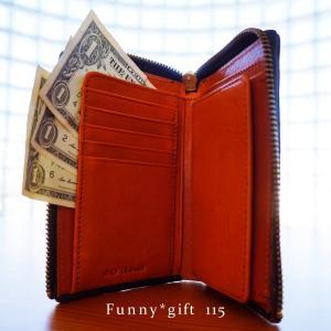 115【送料無料】財布 メンズ 二つ折り 本革 L字ファスナー イタリアンレザー】|funny-gift