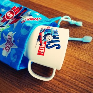 150 きかんしゃトーマス コップ マグ カップ + 袋 <定形外郵便OK>|funny-gift