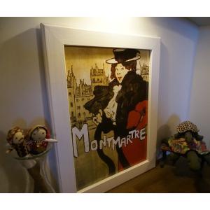 17 モンマルトル パリ カフェ アンティーク アート レプリカ  ギフト 送料無料|funny-gift