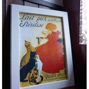 18 スタンラン 猫  パリ カフェ アンティーク アート ギフト 送料無料|funny-gift