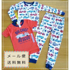 52 カーターズ 消防車 男の子 パジャマ 3T 4T 5T メール便 送料無料|funny-gift