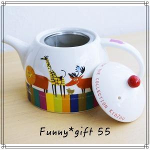 55【送料無料】ティー ポット カップ マグ 子供 動物 ギフトボックス|funny-gift