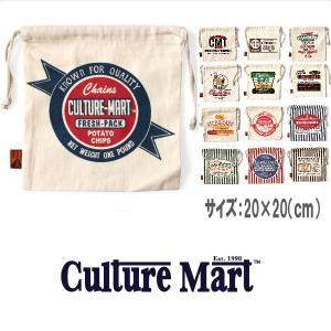 メール便可 Culture Mart/カルチャーマート/ミニ巾着バッグ 100991 巾着袋 ポーチ 小物入れ アメカジ|funnybunny