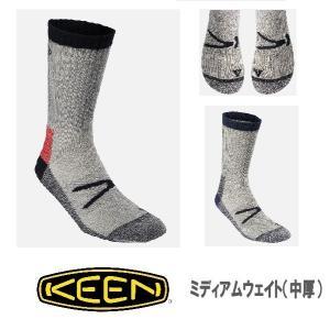 セール メール便可 KEEN キーン フリントミディアムウェイトクルーソックス 10181 靴下 ト...