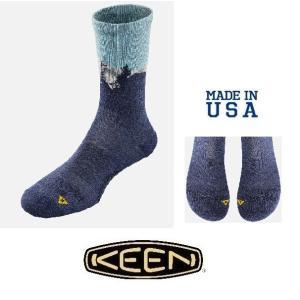 セール メール便可 KEEN キーン マウントフッドライトクルーソックス 1018134 メンズ 靴...