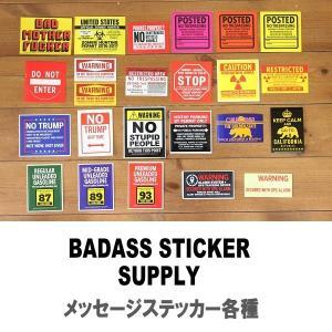メール便可 BADASS STICKER SUPPLY/アメリカン メッセージステッカー BAD-001 シール デカール サイン 耐水 カスタム アメカジ|funnybunny