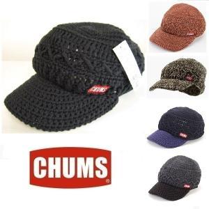 メール便可 CHUMS/Heather Work Knit Cap チャムス/ヘザーワークニットキャップ CH05-1020 帽子 ワッチ つば付 アウトドア|funnybunny