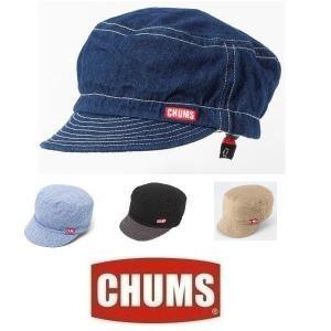 メール便可 CHUMS/TG Cap チャムス/TGキャップ CH05-1071 帽子 タゲットキャップ ワークキャップ デニム アウトドア|funnybunny