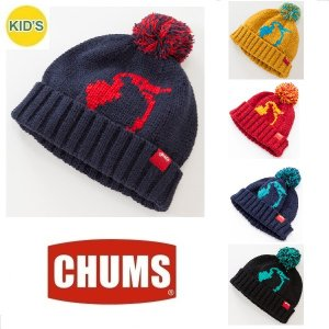 メール便可 CHUMS/Kid's Booby Logo Bon Bon Watch チャムス/キッズ ブービーロゴ ボンボンワッチ CH25-1003 子供 帽子 ビーニー ニット帽|funnybunny