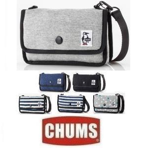 メール便可 CHUMS/Mini Pouch Sweat チャムス/ミニポーチスウェット CH60-0727 ショルダー バッグ ゲームポーチ 小物入れ フェス|funnybunny