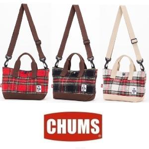 セール CHUMS/チャムス/2ウェイミニトートバッグチェックキャンバス CH60-2087 バッグ ショルダー トート ミニ タータンチェック|funnybunny