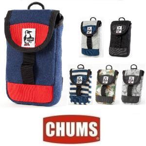 メール便可 CHUMS/Mobile Patched Case Sweat Nylon チャムス/モバイルパッチドケース スウェットナイロン CH60-2364 バッグ ポーチ スマホ ケース 小物|funnybunny