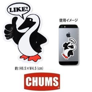 メール便可 CHUSM/Booby Like! Sticker チャムス/ブービーライクステッカー CH62-1117 シール デカール ステッカー アウトドア バード ペンギン|funnybunny
