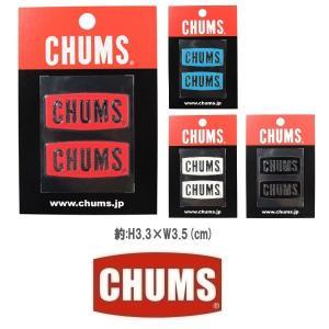 メール便可 CHUMS/Logo Emboss Sticker チャムス/ロゴエンボスステッカー CH62-1125 シール デカール 転写 アウトドア|funnybunny