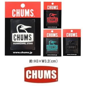 メール便可 CHUMS/Booby Face Emboss Sticker チャムス/ブービーフェイスエンボスステッカー CH62-1127 シール デカール 転写 アウトドア