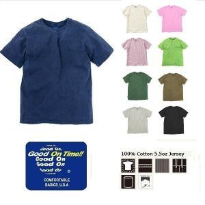 セール メール便可 Good On/SS BASIC CREW TEE グッドオン/ショートスリーブベーシッククルーTシャツ GOST701P 半袖 トップス カットソー|funnybunny