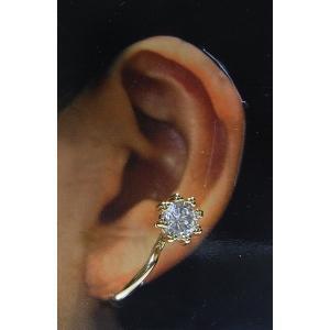新しい耳飾り「イヤークリップ」立爪シンプルタイプ/シルバー|funnyfunny
