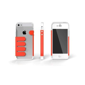 HandHold ホワイト/レッド FB102-WHRD iPhone5用ケース funnyfunny