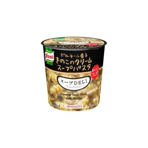 〔まとめ買い〕味の素 クノール スープDELI ボルチーニ香るきのこのクリームパスタ 40.7g×18カップ(6カップ×3ケース)|funnyfunny