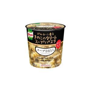 〔まとめ買い〕味の素 クノール スープDELI ボルチーニ香るきのこのクリームパスタ 40.7g×24カップ(6カップ×4ケース)|funnyfunny