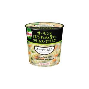 〔まとめ買い〕味の素 クノール スープDELI サーモンとほうれん草のクリームスープパスタ 40.3g×18カップ(6カップ×3ケース)|funnyfunny