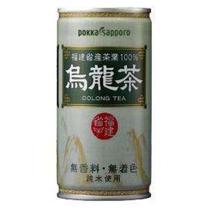 〔まとめ買い〕ポッカサッポロ 烏龍茶 缶 190g 60本入り(30本×2ケース)|funnyfunny