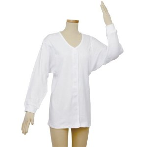 (まとめ)幸和製作所 肌着 テイコブワンタッチ肌着長袖 婦人用 M UN06W-M〔×2セット〕|funnyfunny