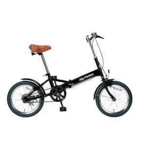 MYPALLAS(マイパラス) 折りたたみ自転車 16インチ M-101BK ブラック|funnyfunny|02