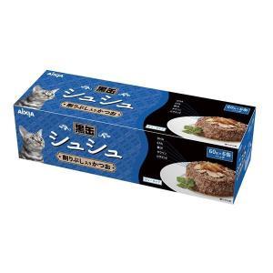 (まとめ)アイシア 黒缶シュシュ6P 削りぶし入かつお60g×6〔猫用・フード〕〔ペット用品〕〔×12セット〕