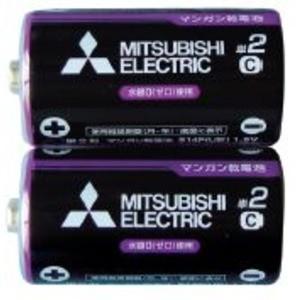 三菱 黒マンガン乾電池単2(2本入)R14PUE/2S 36-357 〔10個セット〕|funnyfunny