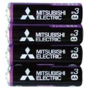 三菱 黒マンガン乾電池単3(4本入)R6PUE/4S 36-358 〔10個セット〕|funnyfunny
