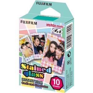 富士フイルム チェキ用カラーフィルム instax mini ステンドグラス 1パック品(10枚入) INSTAX MINI STAINED GLASS 1|funnyfunny