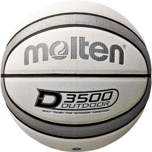 〔モルテン Molten〕 アウトドア用 バスケットボール 〔7号球 ホワイト×シルバー〕 人工皮革 高耐摩耗性 〔運動 スポーツ用品〕|funnyfunny