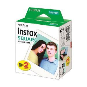 (まとめ)富士フイルム インスタントカラーフィルムinstax SQUARE ホワイト 1箱(20枚:10枚×2パック)〔×3セット〕|funnyfunny