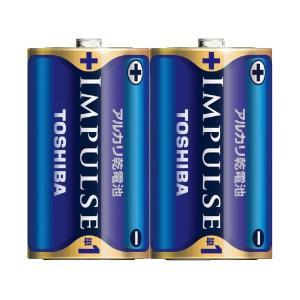 (まとめ)東芝 インパルス アルカリ乾電池 単1電池 2個パック〔×50セット〕|funnyfunny