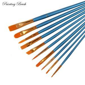 ペイント ブラシ 10点セット 油絵の具 アクリル筆 油絵筆 水彩筆 画筆 油絵筆