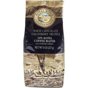 コーヒー フレーバー ロイヤルコナ ホワイトチョコレート ストロベリートリュフ  227g 粉|funsense