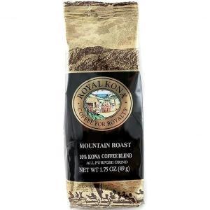コーヒー ノンフレーバー ロイヤルコナ マウンテンロースト ミニサイズ 49g 粉|funsense