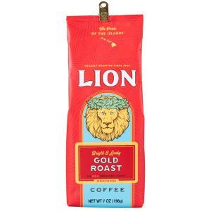 コーヒー ノンフレーバー ライオンコーヒー ゴールドロースト 198g 粉|funsense