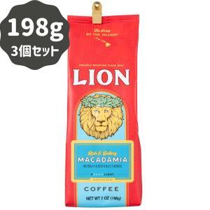コーヒー フレーバー ライオンコーヒー マカダミア 198g×3パック 粉|funsense