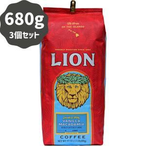 コーヒー フレーバー ライオンコーヒー バニラマカダミア 680g×3パック 粉 豆|funsense