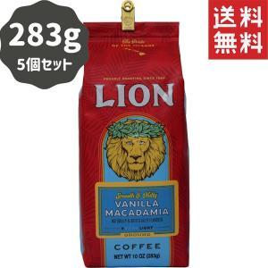 コーヒー フレーバー ライオンコーヒー バニラマカダミア 283g×5パック 粉|funsense