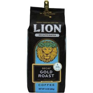 デカフェコーヒー ライオンコーヒー ゴールドロースト 283g 粉 カフェインレス|funsense