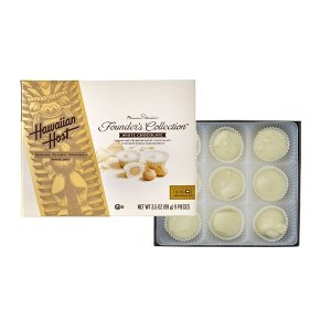 (ハワイアンホースト) ホール マカダミアナッツ ホワイトチョコレート ギフトボックス 99g...