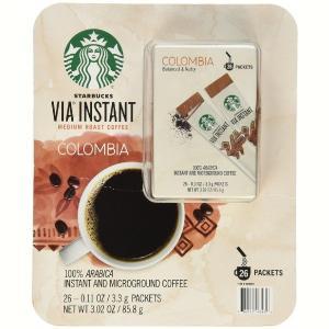 (スターバックスコーヒー) ビア インスタント ミディアムロースト コロンビア コーヒー 26パック|funsense